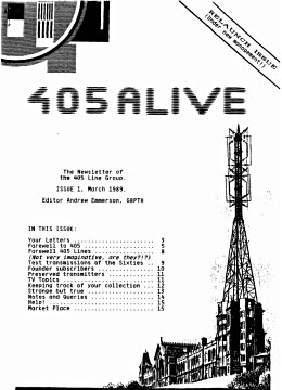 405 Alive Issue 1 (March 1989)
