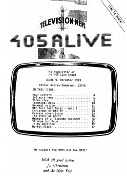 405 Alive Issue Issue 4 (December 1989)