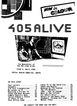 405 Alive Issue Issue 6 (April 1990)
