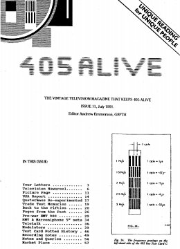 405 Alive Issue Issue 11 (July 1991)