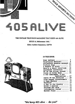 405 Alive Issue Issue 15 (Midsummer 1992)
