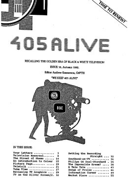 405 Alive Issue Issue 16 (Autumn 1992)