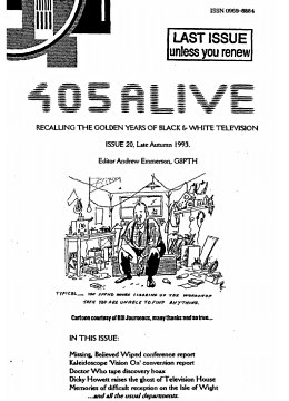405 Alive Issue Issue 20 (Late Autumn 1993)