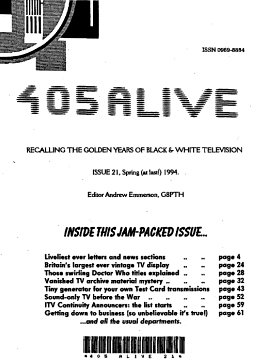 405 Alive Issue Issue 21 (Spring (at last) 1994)