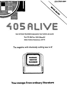 405 Alive Issue Issue 26 (Mid-Year 1995)