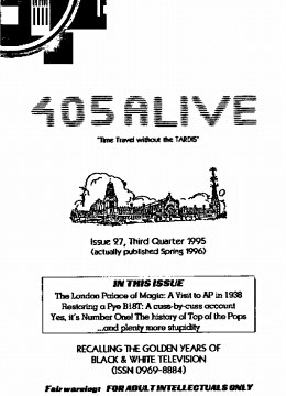 405 Alive Issue Issue 27 (Third Quarter 1995)