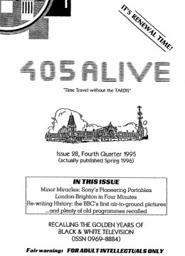 405 Alive Issue Issue 28 (Fourth Quarter 1995)
