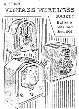 BVWS BulletinVolume 1, Number 2 (September 1976)