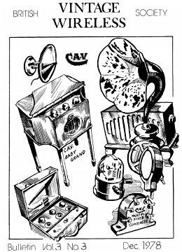 BVWS BulletinVolume 3, Number 3 (December 1978)