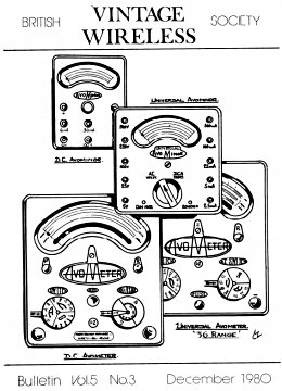 BVWS BulletinVolume 5, Number 3 (December 1980)