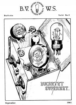 BVWS BulletinVolume 6, Number 2 (September 1981)