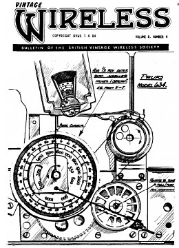 BVWS BulletinVolume 8, Number 4 (April 1984)