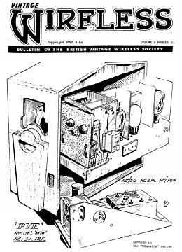 BVWS BulletinVolume 9, Number 2 (September 1984)