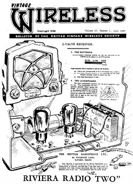 BVWS BulletinVolume 10, Number 1 (June 1985)