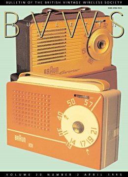 BVWS BulletinVolume 20, Number 2 (April 1995)