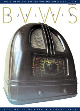 BVWS BulletinVolume 20, Number 4 (August 1995)