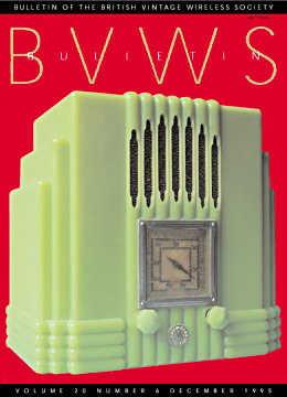 BVWS BulletinVolume 20, Number 6 (December 1995)