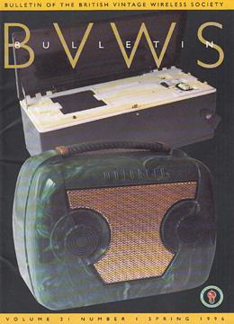 BVWS BulletinVolume 21, Number 1 (Spring 1996)