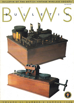 BVWS BulletinVolume 21, Number 2 (Summer 1996)