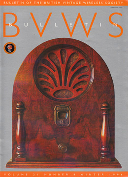 BVWS BulletinVolume 21, Number 4 (Winter 1996)